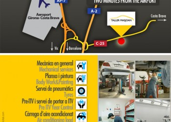 Taller Masjoan. Servei a l'Aeroport de Girona-Costa Brava
